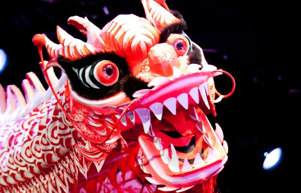 Kiinalaisen uuden vuoden lohikäärme. Kuva: Kari Rosenberg